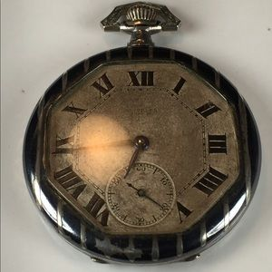 Rare Sterling Silver Turler Zurich Pocket Watch